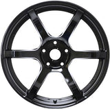Gram Lights 57C6 18X9.5 +25 5-114.3 Semi Gloss Black