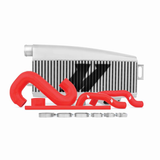 Mishimoto Silver Top Mount Intercooler w/ Red Hoses Subaru WRX 02-07/STI 04-07