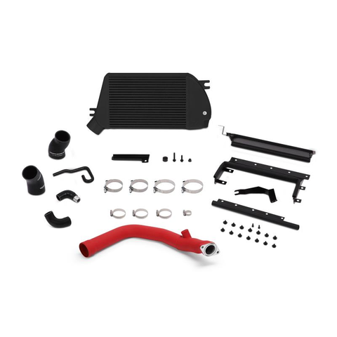 Mishimoto Black Top Mount Intercooler w/ Red Charge Pipe Subaru WRX 15-18