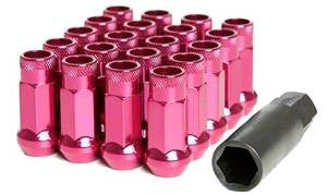 Muteki SR48 Open End Lug Nuts - Pink 12x1.25