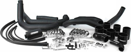 Perrin Boost Tube Kit Black Piping w/Black Couplers Subaru STI 08-14