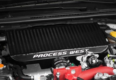 Process West Black Top Mount Intercooler Subaru STI 08-17