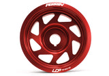 PERRIN Lightweight Crank Pulley Red Most Subaru WRX 02-14/STI 04-17/Legacy GT 05-09/Forester XT 04-13