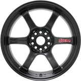 Gram Lights 57DR 18x10.5 +12 5x114.3 Semi Gloss Black