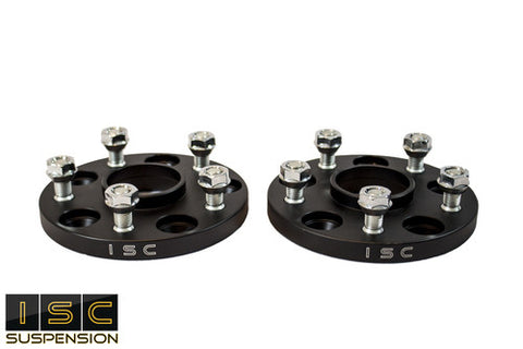 ISC 5x114 Hub Centric Wheel Spacers 15mm Black (Pair)