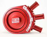 Grimmspeed Air Oil Separator Red - Subaru WRX 08-14/Legacy GT 05-12/Forester XT 09-13