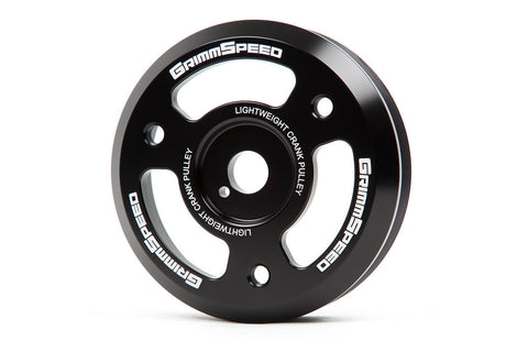 Grimmspeed Lightweight Crank Pulley Black - Subaru WRX 15-16/Forester XT 14-16/BRZ 13-16 (All FA Engines)