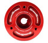 Grimmspeed Lightweight Crank Pulley Red - Subaru WRX 02-14/STI 04-15/Legacy GT 05-09/Forester XT 04-13 (All EJ Engines)