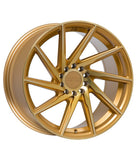 F1R F29 18x9.5 +38 5x100/5x114.3 Machined Gold