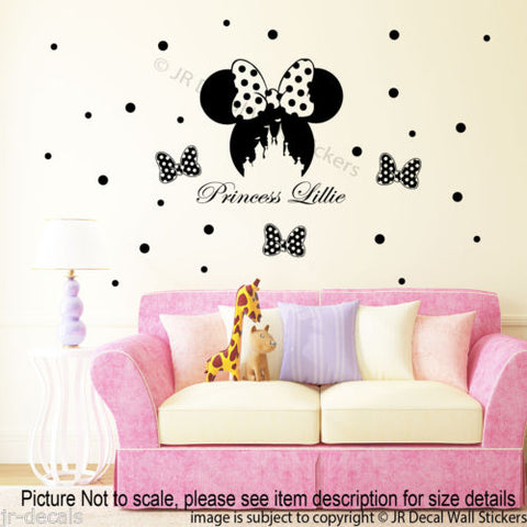 Disney Minnie Mouse Personalized Decals