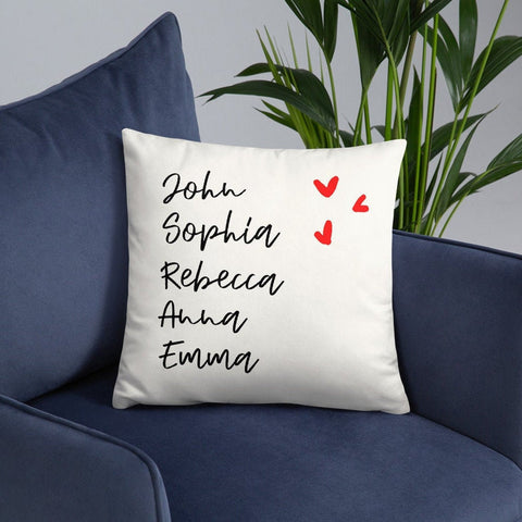 Personalized Family Name throw Pillow- Best Gift for Mum