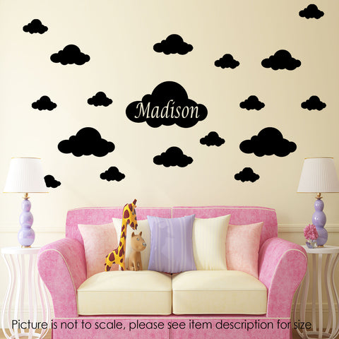 Cloud Name personalised decal