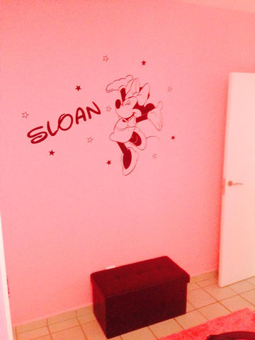 Minnie mouse Vinyl wall decals