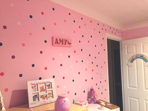 Polka Dots nursery wall decals