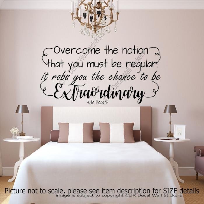 """The chance to be Extraordinary"" Uta Hagen Inspirational quote wall stickers"