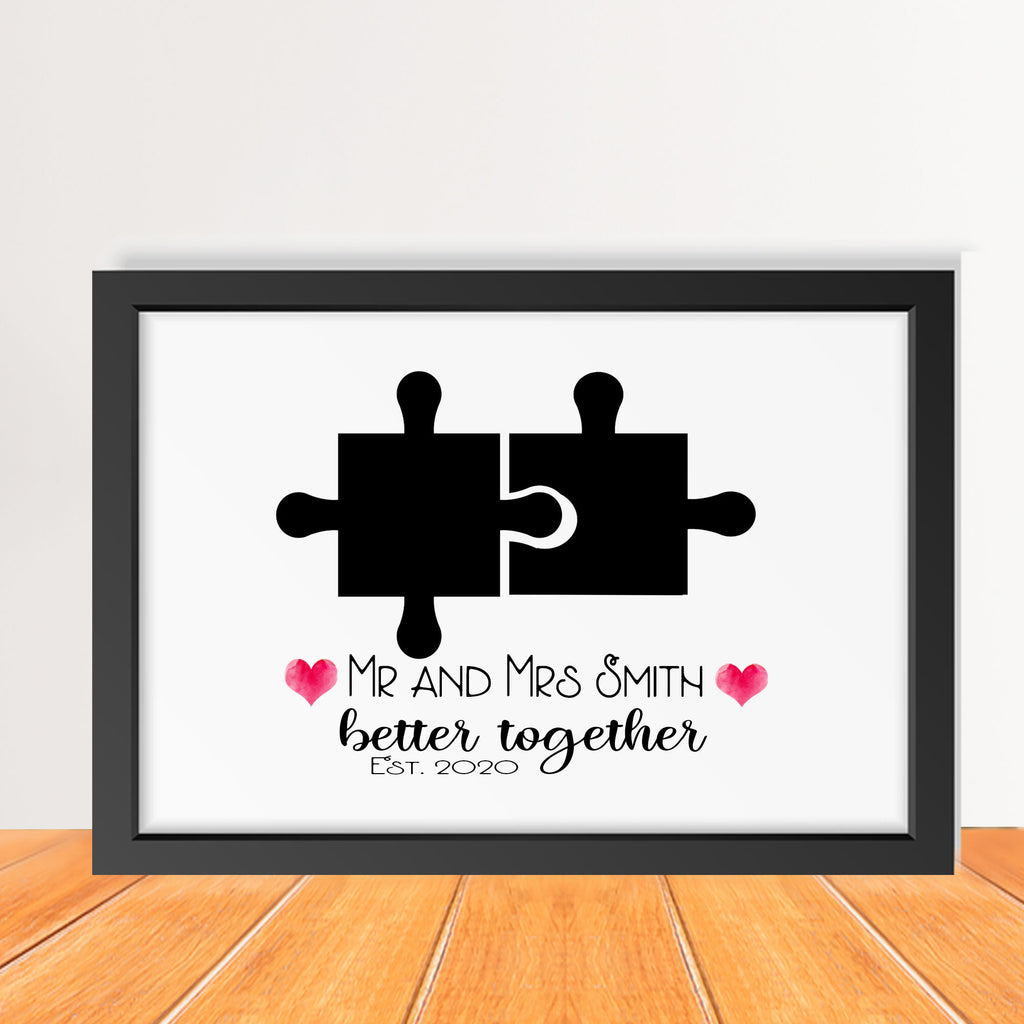 Jigsaw puzzle pieces - Couple Anniversary Gifts