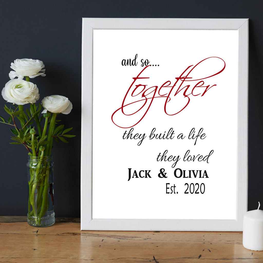 Together they built a life - Valentine's gift