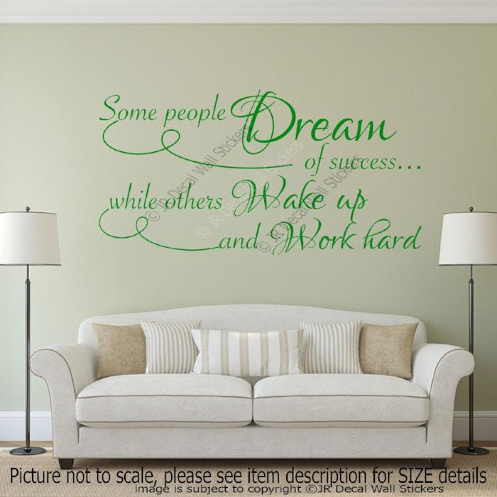 """Some people Dream"" Inspiring Quote Vinyl Stickers home decor Gym Wall Art Decals"