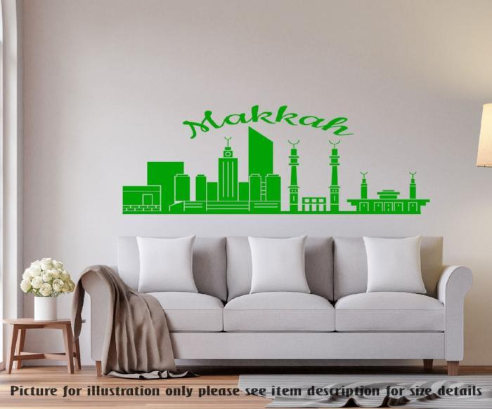 Makkah City Skyline Islamic Wall Art Sticker