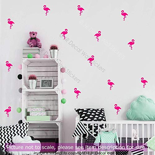 30 pieces Large (14cm) Flamingo Nursery Wall Stickers, Removable Vinyl Wall Decals