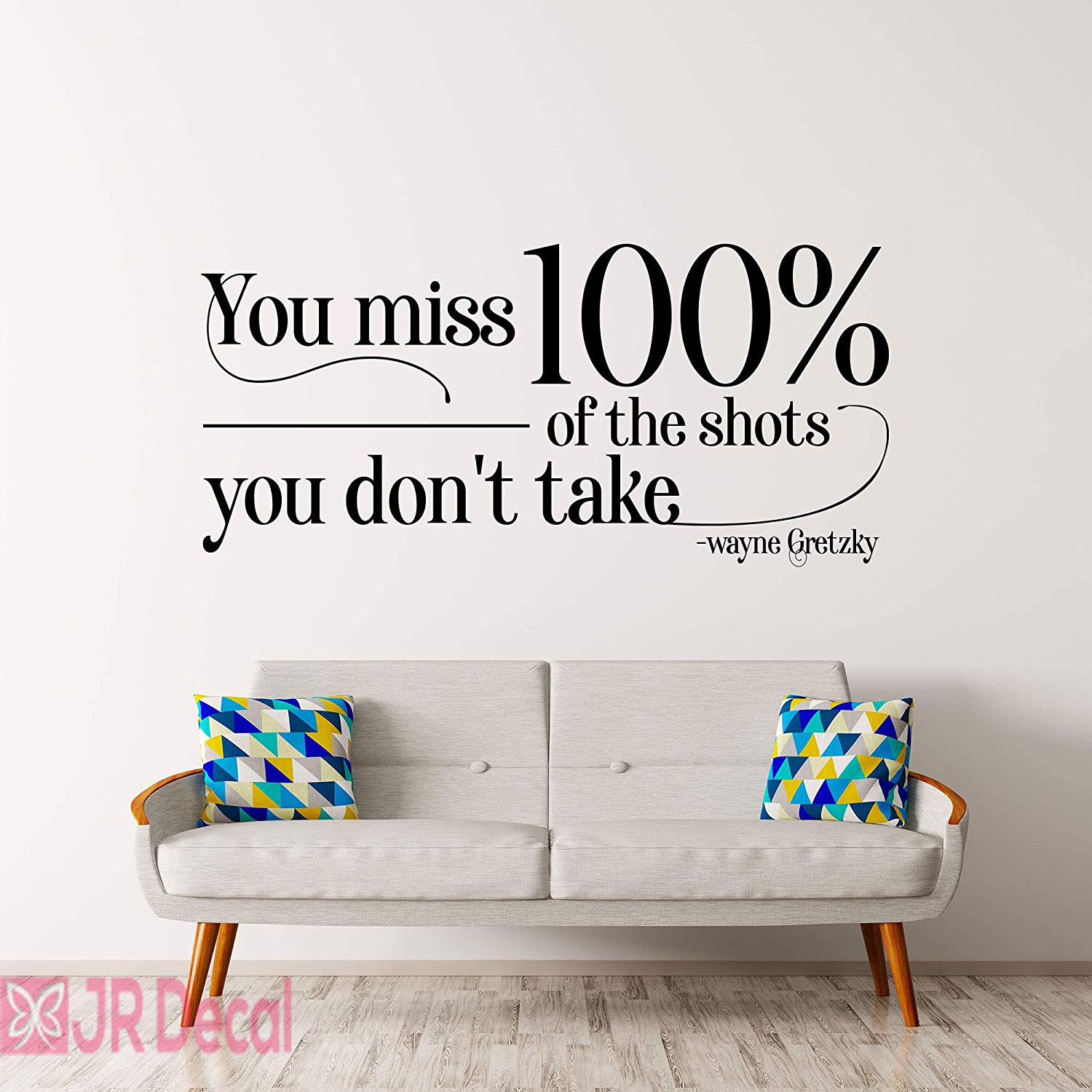 You Miss 100 Wayne Gretzky Inspirational Quote Wall Stickers