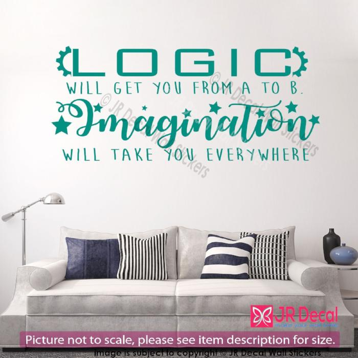 """Imagination will take you everywhere""- Motivational Quote Vinyl Wall Art Sticker"