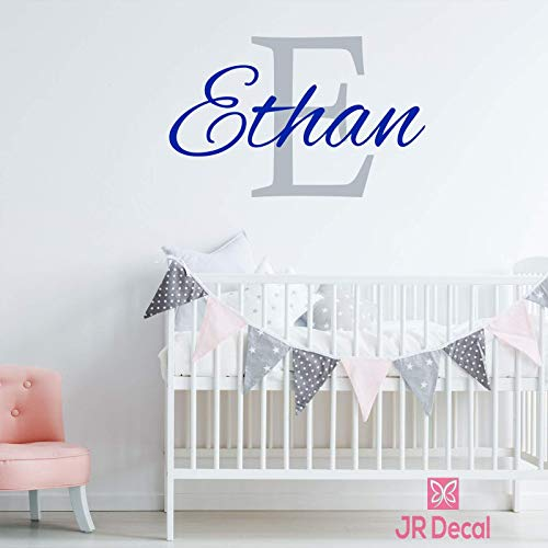 Personalized baby boy name nursery wall stickers decor