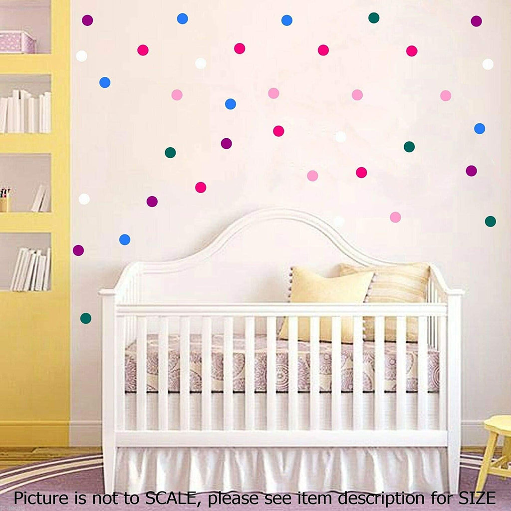 Polka Dot Wall Stickers 3cm, Removable Vinyl Wall Decals