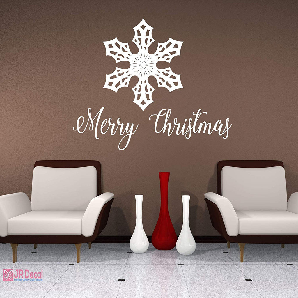 Merry Christmas Snowflakes nursery vinyl wall stickers