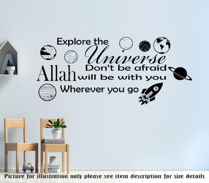 """Explore the universe"" Printed Inspiration quote wall art"