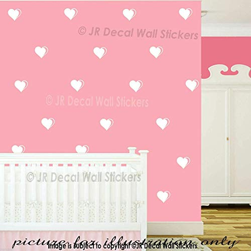 10 cm Heart Shapes Wall Vinyl Sticker