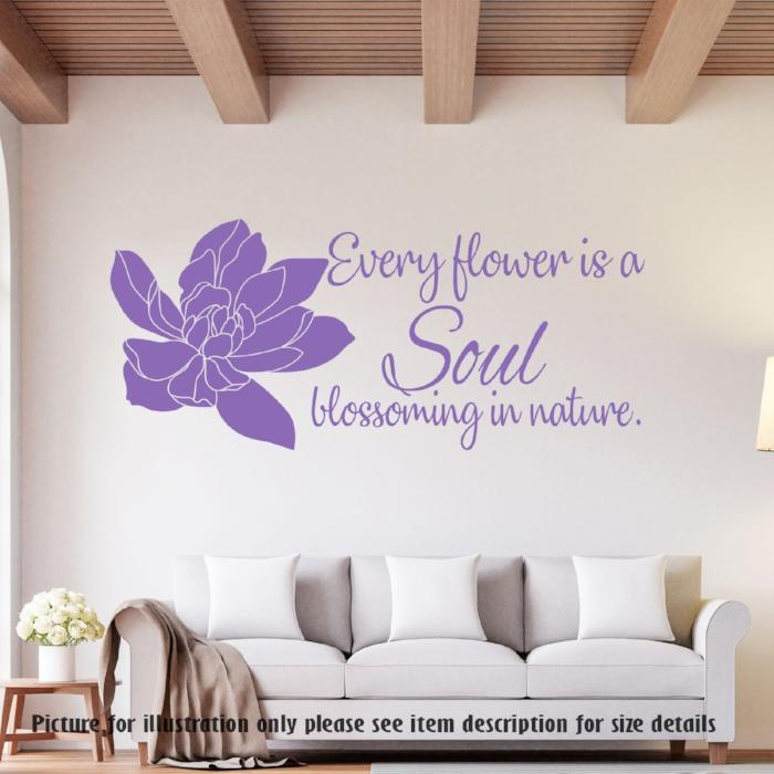 Every flower is a Soul blossoming in nature Wall Art