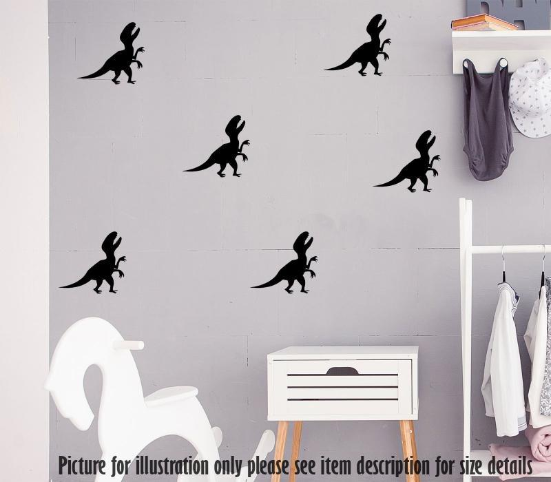 Dino set Velociraptor Dinosaur Wall Sticker, Nursery Dino Wall Decal Playroom Kid's Room Decor, Jurassic world theme wall stickers