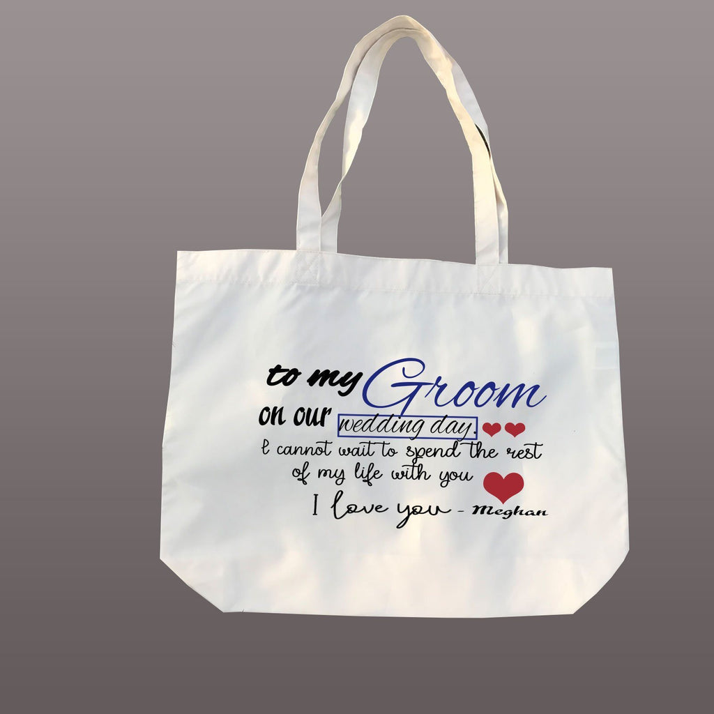 I Love you -Couple Quote Tote bag, Personalised Canvas Tote Bag, Groom wedding gifts, Bridal Party Gifts, Beach Wedding Bridesmaid gifts