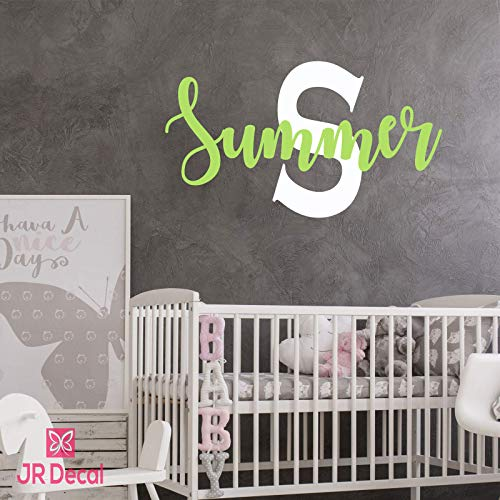 Custom name wall sticker Monogram for Baby