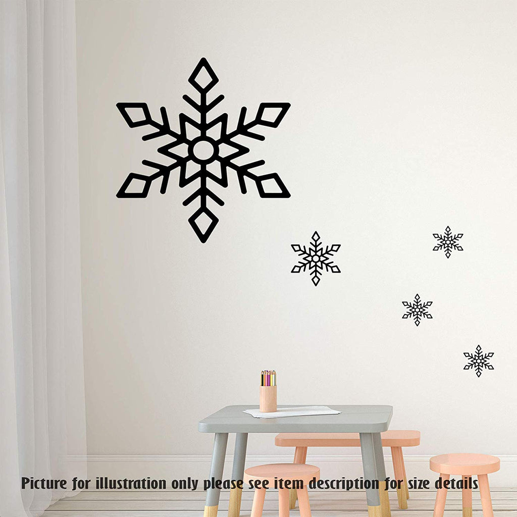 Merry Christmas Snowflakes wall stickers