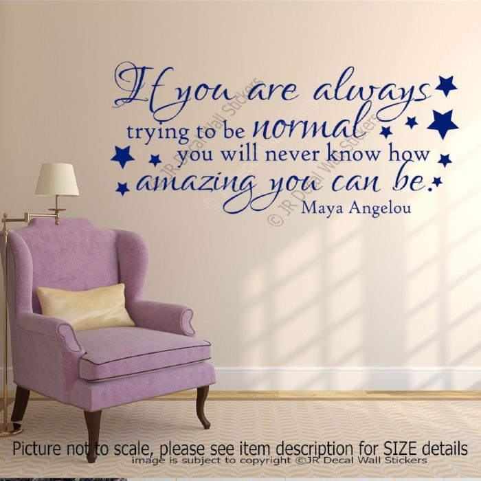 """How amazing you can be""-Maya Angelou Motivational Quote Wall Art Sticker inspiring Wall Decal"
