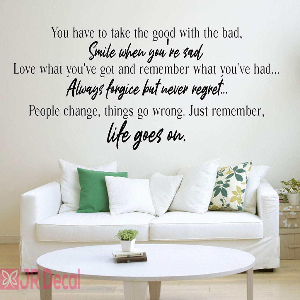 Life goes on- inspiring quotes vinyl wall stickers