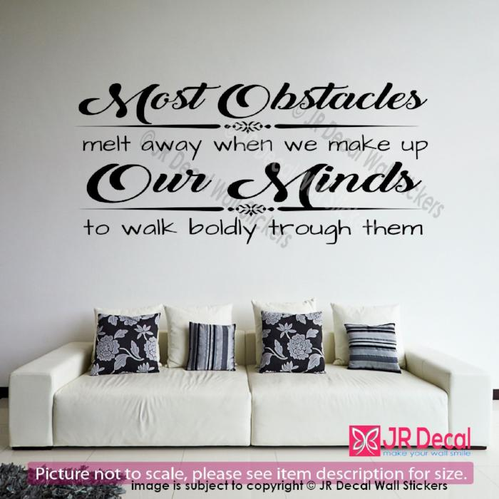 """We make up our Minds""- inspiring Quote Decals Vinyl Wall Art Stickers Home Decor"