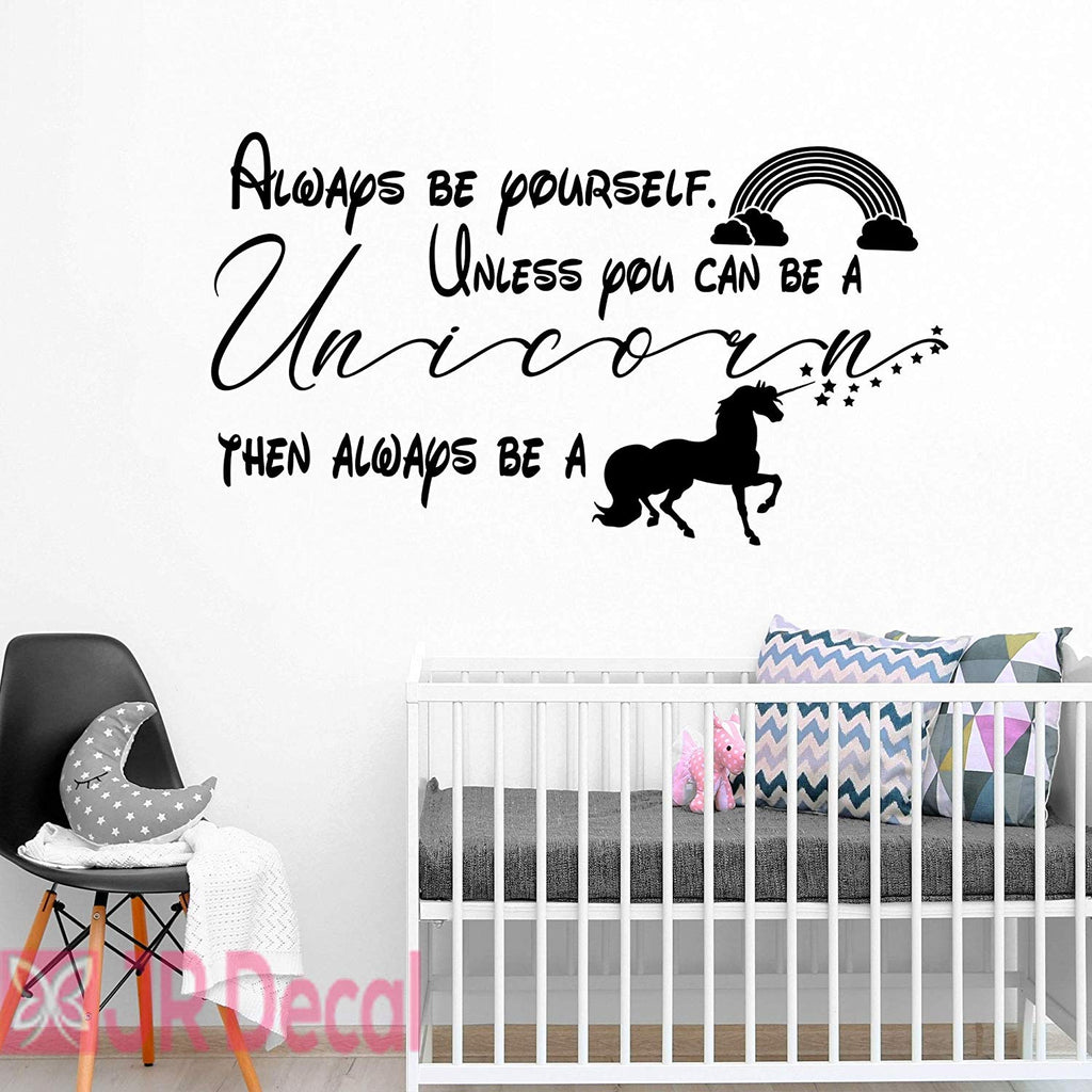 Always be Yourself- Unicorn Quote wall stickers