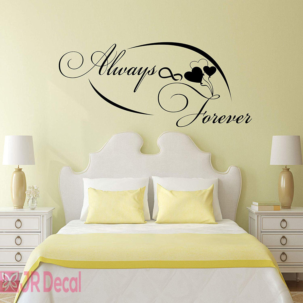 Always Forever- infinity Love quotes vinyl wall stickers