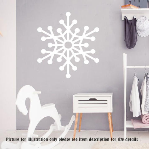 Christmas Snowflakes - Vinyl Wall Decals, Christmas Shop window Decor, Xmas Stickers, Christmas Nursery Wall Art Decoration, Home Decor