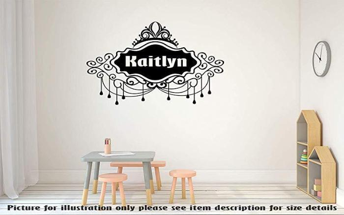 PERSONALISED name Monogram Wall Stickers, Kid's name Wall Art Sticker Nursery Wall Decal, Child's Room Vinyl Wall Sticker