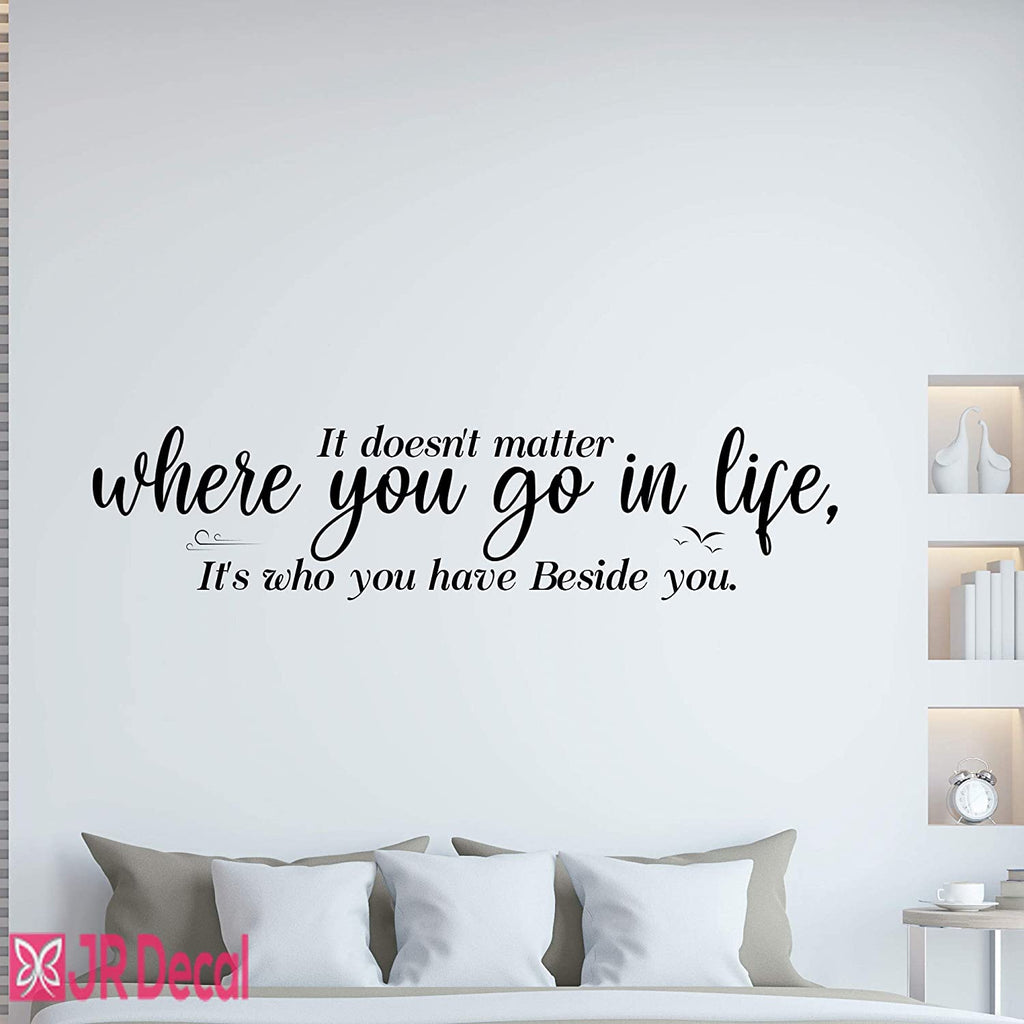 Who you have beside you- Inspirational quotes Wall Stickers