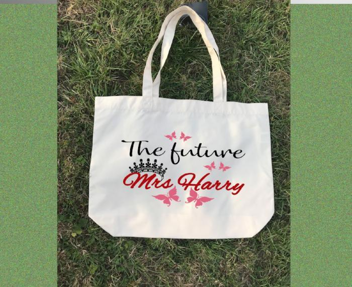 The future Mrs. - Printed Canvas Tote Bag, Personalised Canvas Tote Bag