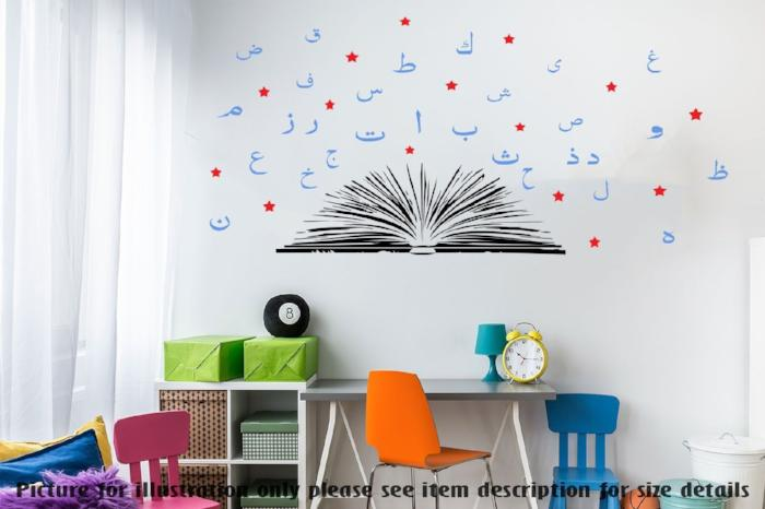 Arabic Alphabet Book wall sticker