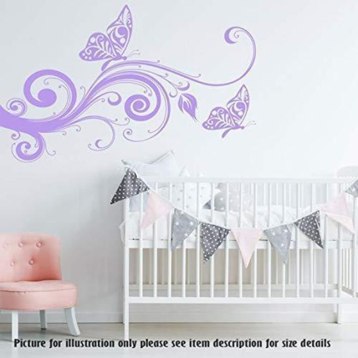 . Butterfly Wall Stickers  Tree wall Art Nursery Wall Decal  Child s Room  Wall Decal  Removable Vinyl Wall Sticker