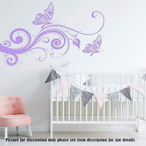 Butterfly Wall Stickers, Tree wall Art Nursery Wall Decal, Child's Room Wall Decal, Removable Vinyl Wall Sticker