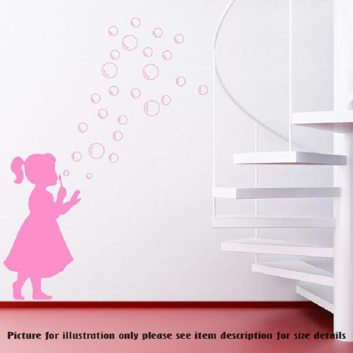 GIRL Dot SOAP BUBBLE Wall Decal,