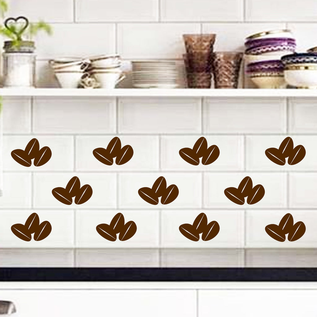 Coffee Beans kitchen Tile wall stickers